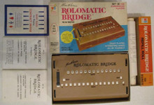 Vintage Board Games - Charles Goren's Rolomatic Bridge Machine - Milton Bradley