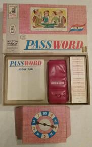 Vintage Board Games - Password - Milton Bradley