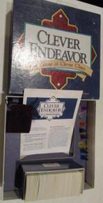 Vintage Board Games - Clever Endeavor - 1989