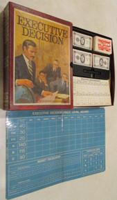 Vintage Board Games - Executive Decision - 1971