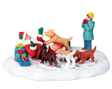 63275 - Puppies Love Santa - Lemax Table Pieces