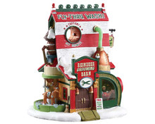 75293 - Reindeer Grooming Barn, Battery-Operated (4.5v) - Lemax Santa's Wonderland