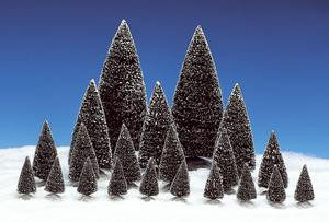 34968 - 21-Piece Assorted Pine Trees - Lemax Christmas Village Trees
