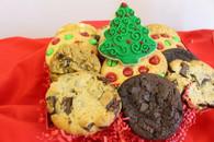 One dozen gourmet cookies with one designed cookie