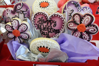 Happy Valentines Day Cookie Bouquet