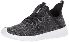 Adidas Women's Cloudfoam Pure Running Shoe, Black/Black/White