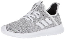 adidas Women's Cloudfoam Pure Running Shoe, White/White/Black