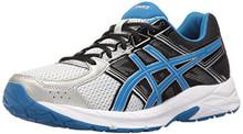ASICS Men's Gel-Contend 4 Running Shoe, Silver/Classic Blue/Black