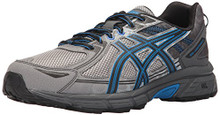 ASICS Men's Gel-Venture 6 Running Shoe, Aluminum/Black/Directoire Blue