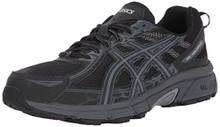 ASICS Men's Gel-Venture 6 Running-Shoes, Black/Phantom/Mid Grey