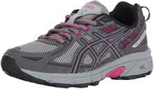 ASICS Women's Gel-Venture 6 Running-Shoes,Carbon/Black/Pink Peacock