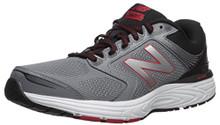 New Balance Men's 560v7 Cushioning Running Shoe, Silver/Black