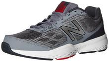 New Balance Men's MX517v1 Training Shoe, Grey/Red