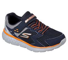 Skechers Kids Boys' Go Run 400-Proxo Sneaker,Navy/Grey