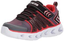 Skechers Kids Boys' Hypno-Flash 2.0 Sneaker,Charcoal/Red