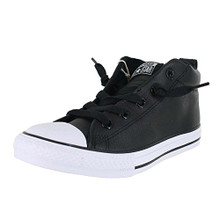 Converse Kids All Star Street Mid Shoes Leather Black White