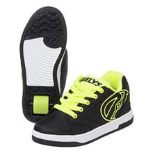 Heelys Boys' Propel 2.0 Sneaker, Black/Bright Yellow