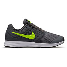 New Nike Boy's Downshifter 7 Athletic Shoe Cool Grey/Volt