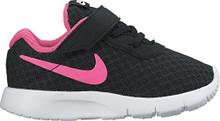 NIKE Girl's Tanjun Shoe Black/Hyper Pink/White
