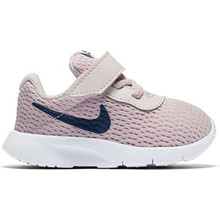 NIKE Girl's Tanjun Shoe Barely Rose/Navy/White