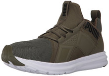 PUMA Men's Enzo Mesh Sneaker, Olive Night White