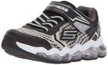Skechers Kids Boys' Turbo-Flash Sneaker,Black/Silver
