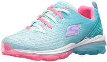 Skechers Kids Girls' Skech-Air Deluxe Sneaker,Aqua/Pink
