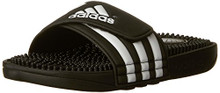 adidas Adissage Sandal (Toddler/Little Kid/Big Kid),Black/White/Black