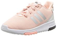 adidas Girls' Racer TR Inf Sneaker,Haze Coral/Metallic Silver/White