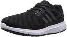 Adidas Men's Energy Cloud Wide m Running Shoe, Black/Utility Black/White