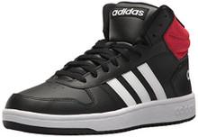 adidas Men's VS Hoops Mid 2.0, Core Black/White/Scarlet