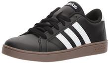 adidas Unisex-Kids Baseline Sneaker, Black/White/Gum