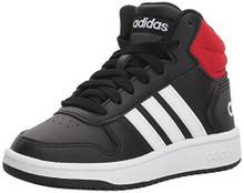 adidas Unisex-Kids Vs Hoops Mid 2.0 K, Black/White/Red