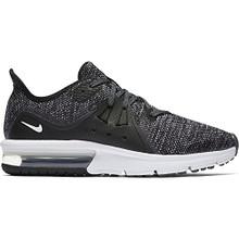 NIKE Boy's Air Max Sequent 3 Running Shoe Black/White/Dark Grey