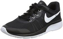 NIKE Boy's Tanjun Racer (GS) Running Shoes (Dark Grey/White/Black)