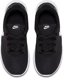 NIKE Boy's Tanjun Running Sneaker Black/White-White 1
