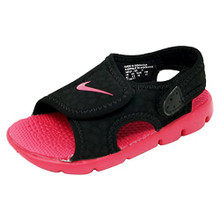 Nike Sunray Adjust 4 Toddler Girls' Sandals Black/Rush Pink