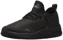 PUMA Unisex-Kids Pacer Next Cage Sneaker, Black Black