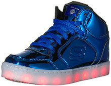 Skechers Kids Energy Lights Eliptic Sneaker,Royal