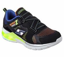 Skechers Kids Boys' Erupters II-Tephra Sneaker,Black/Blue/Lime