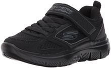 Skechers Kids Boys' Flex Advantage 2.0-97458L Sneaker,Black/Black