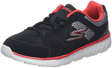 Skechers Kids Boy's Go Run 400 (Little Kid/Big Kid) Black/Grey/Red