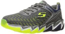 Skechers Kids Boys' Skech-Air 3.0-Downplay Sneaker,Charcoal/Lime