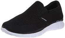 Skechers Sport Men's Equalizer Double Play Slip-On Loafer,Black/White