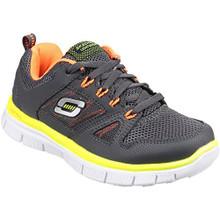 Skechers Boy's, Flex Advantage Lace up Athletic Sneaker Charcoal/Orange 13.5 M