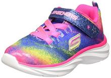 Skechers Infant/Toddler Girls' Pepsters Bling Brite Sneaker,Neon/Pink/Multi,US 9