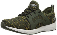BOBS from Skechers Women's Bobs Squad-Double Dare Fashion Sneaker, Olive
