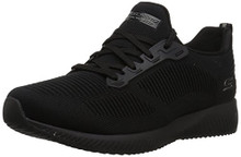 BOBS from Skechers Women's Bobs Squad-Photo Frame Wide Sneaker, Black/Black