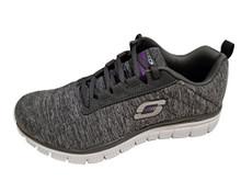 Skecher Women's Graceful â Tempting Proposal Sneakers (Charcoal/Purple)