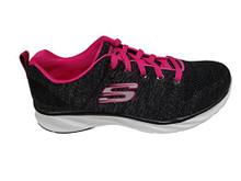 Skecher Women's Pisa â Petal Joy Sneakers (Black/Hot Pink)